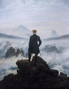 Der Wanderer über dem Nebelmeer  Tableau de  Caspar David Friedrich